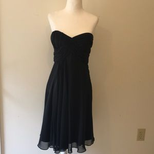 White House Black Market Black Strapless Dress Sz4